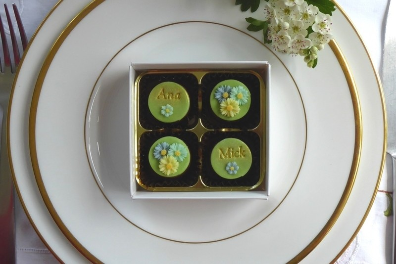 Double Daisies - box of four wedding favours