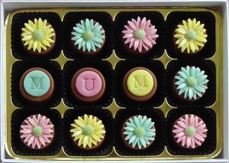 Pastel Daisies - marzipan chocolates