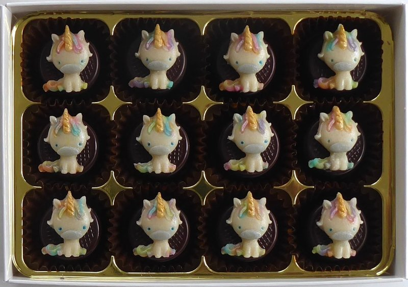 Be a Unicorn - marzipan chocolates