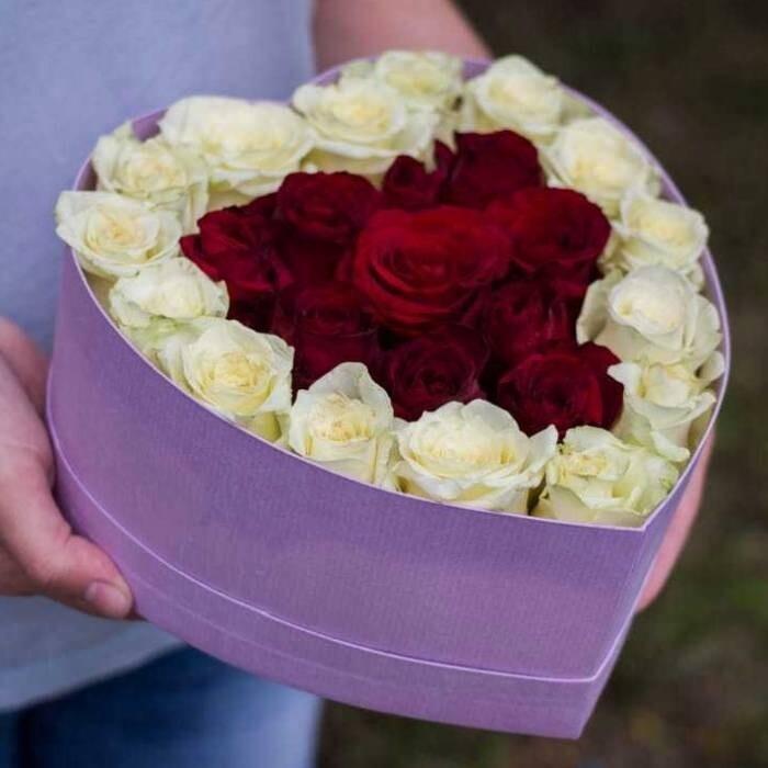 25 роз в сердце