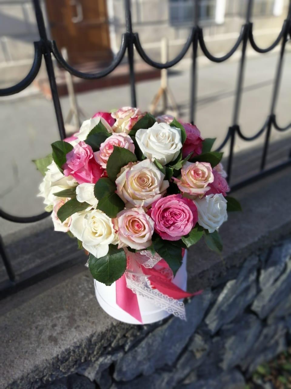 Аквабокс с розами