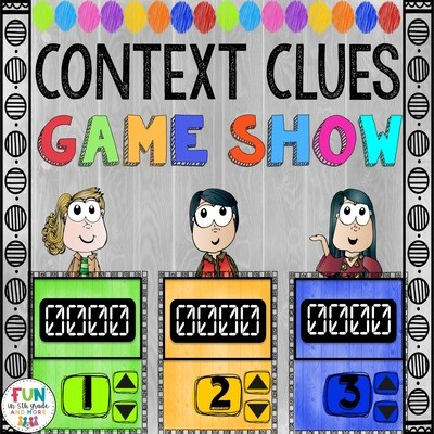 Context Clues Game Show (PowerPoint Game)