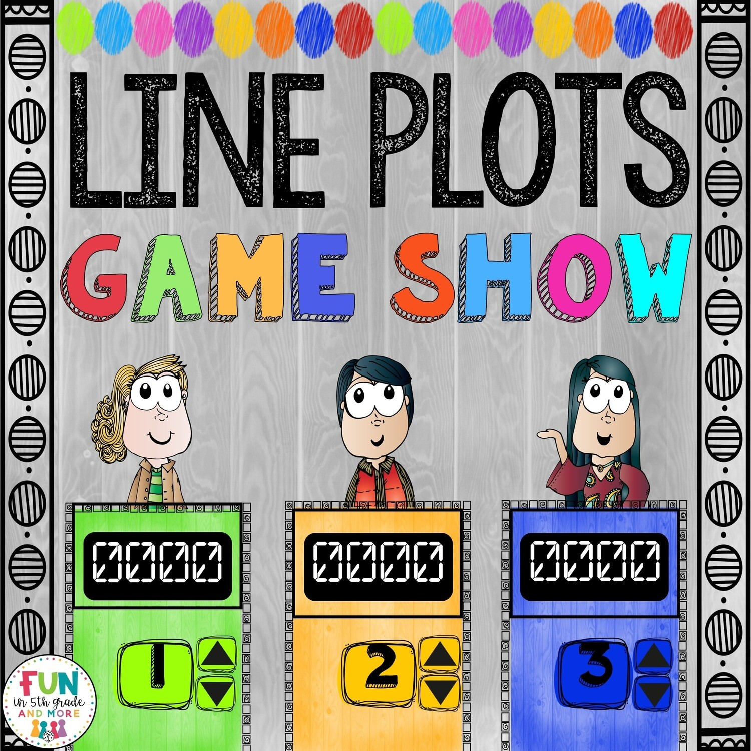 Line Plots Game Show: 5.MD.2 (PowerPoint Game)