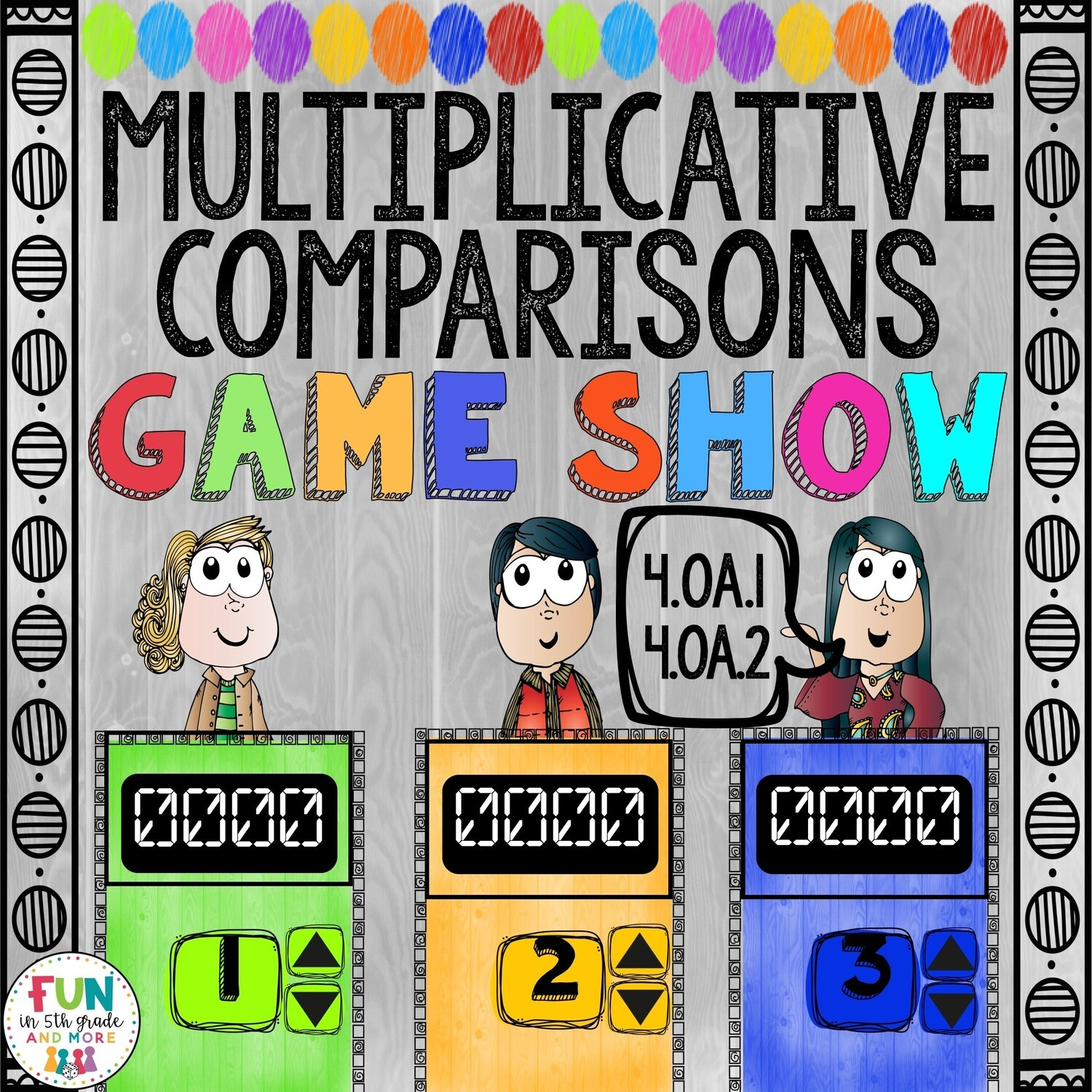 Multiplicative Comparisons Game Show: 4.OA.1/4.OA.2 (PowerPoint Game)