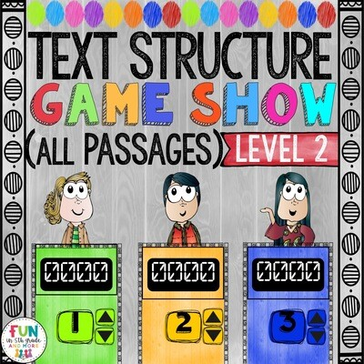Text Structure Game Show: Level 2 All Passages (PowerPoint Game)