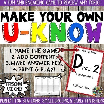 Make Your Own U-Know Game