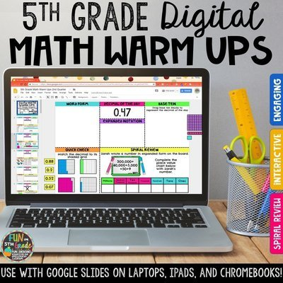 5th Grade Digital Math Warm Ups | Digital Morning Work
