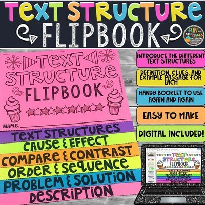 Text Structure Flipbook | Printable & Digital