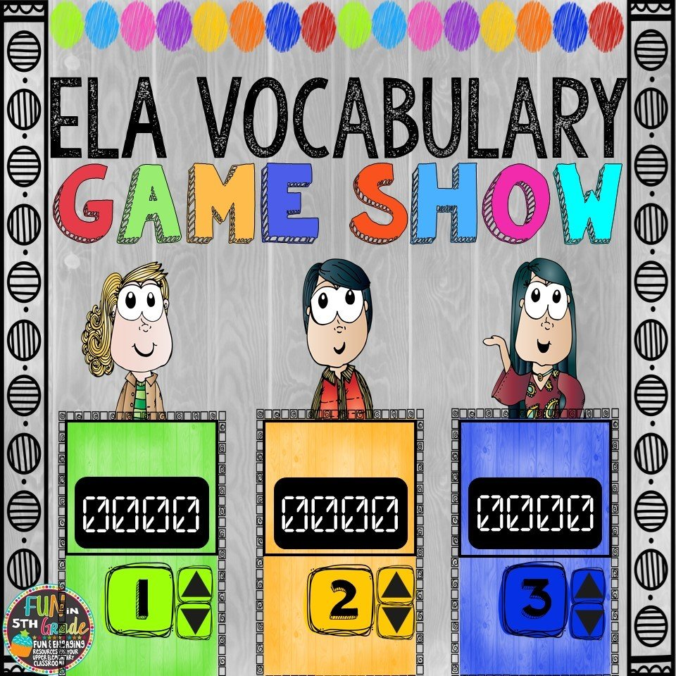 ELA Vocabulary Game Show (PowerPoint Game)