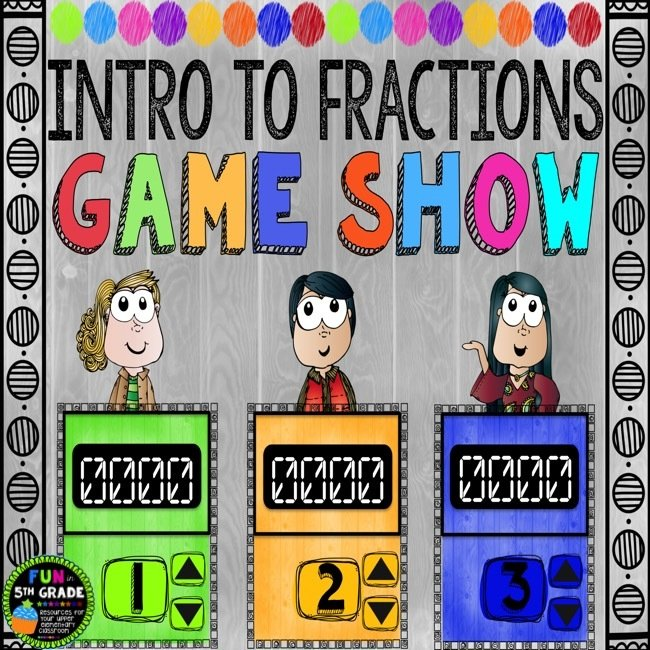 Intro to Fractions Game Show (PowerPoint Game)