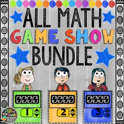 ALL Math Game Shows (PowerPoint Games)