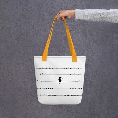 Cat Distancing Tote bag