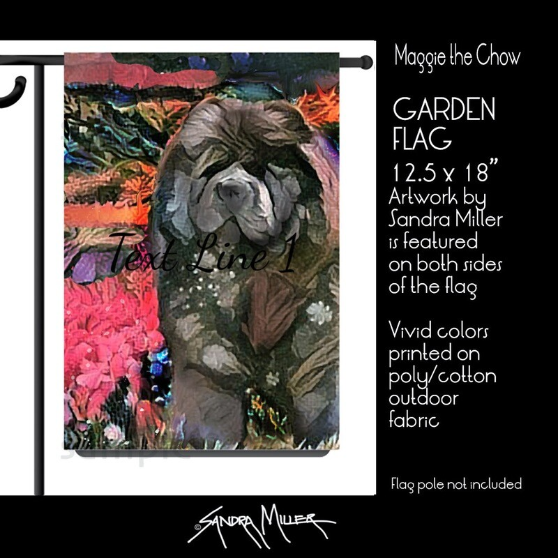 MAGGIE the Chow Art Flags in 2 sizes