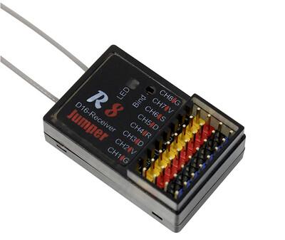 Jumper R8 16CH RC Receiver Compatible FrSky Taranis D16 D8 Mode