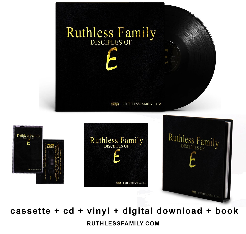 Ruthless Family : Disciples of E  (Vinyl Record + CD + Tape + Digital + Book) #eazye #ruthlessfamily