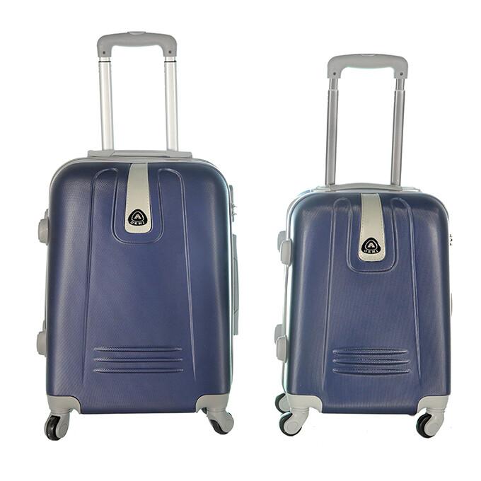 Coppia di 2 trolley da cabina mis.50 e 55 cm blu