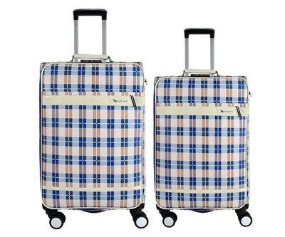 Coppia di 2 trolley in finta pelle c/4 ruote piroettanti var.12