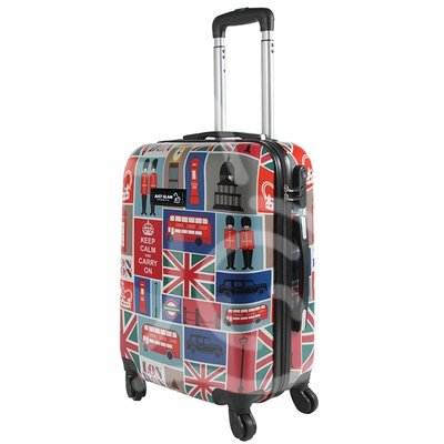 Trolley da cabina  justglam  ultraleggero  55cm fantasia british general