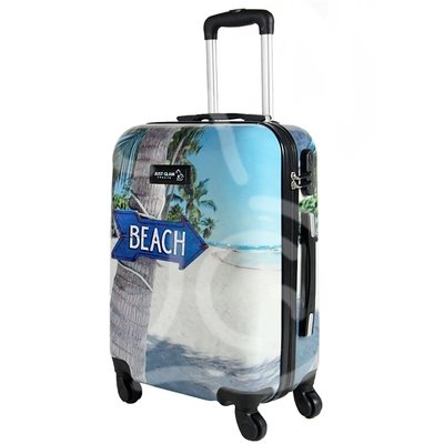 Trolley da cabina  justglam  ultraleggero  50cm fantasia beach
