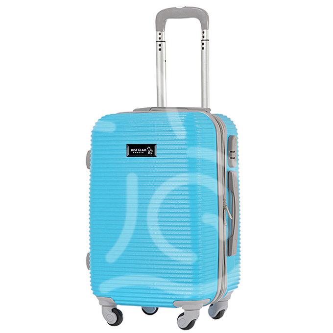Trolley da cabina  justglam  ultraleggero  50cm blu celeste
