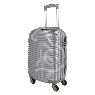 Trolley da cabina  justglam  ultraleggero  55cm argento
