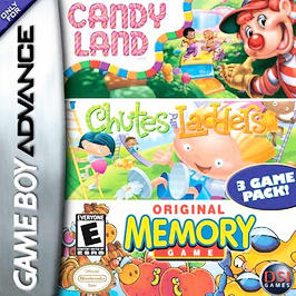 Candy Land / Chutes and Ladders / Original Memory Game - GBA - Used