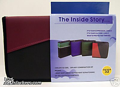 Red and Black 32 Disc CD Wallet - Music Accessory - New
