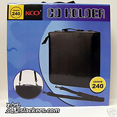 Black 240 Disc CD Wallet - Music Accessory - New