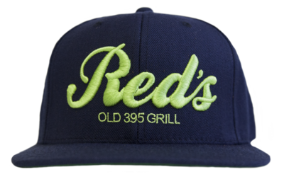 Blue & Green Embroidered Snapback Hat