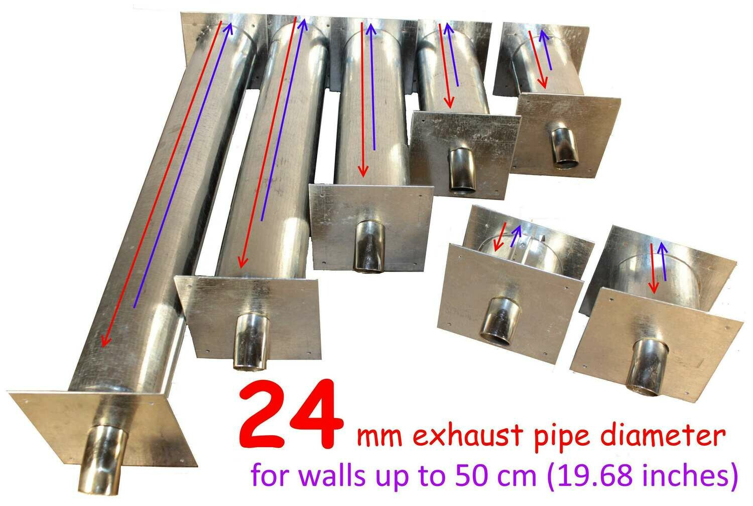 Exhaust thru wall outlet 24 mm