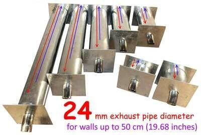 Exhaust thru wall outlet 24 mm