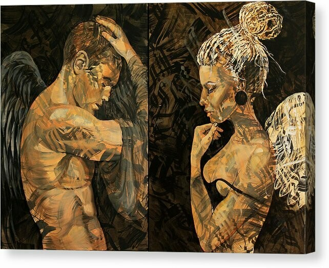 Print Black Angel-White Angel