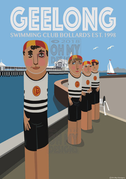 Geelong Foreshore - Swimming Club Bollards