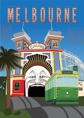 NEWEST! MELBOURNE - LUNA PARK AND TRAM