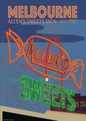 MELBOURNE - Allens Sweets Sign