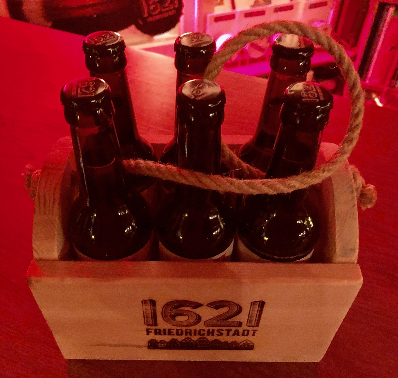 1621 6er-Holzträger inkl. Bier