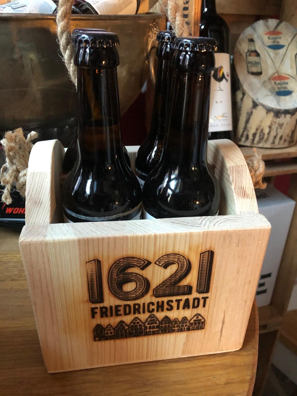 1621 4er-Holzträger inkl. Bier