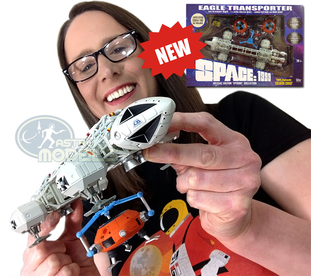 """Sixteen12 Diecast Eagle Transporter From 'SPACE: 1999' - 12"""" Long This Episode: 'Collision Course' LIMITED EDITION!"""