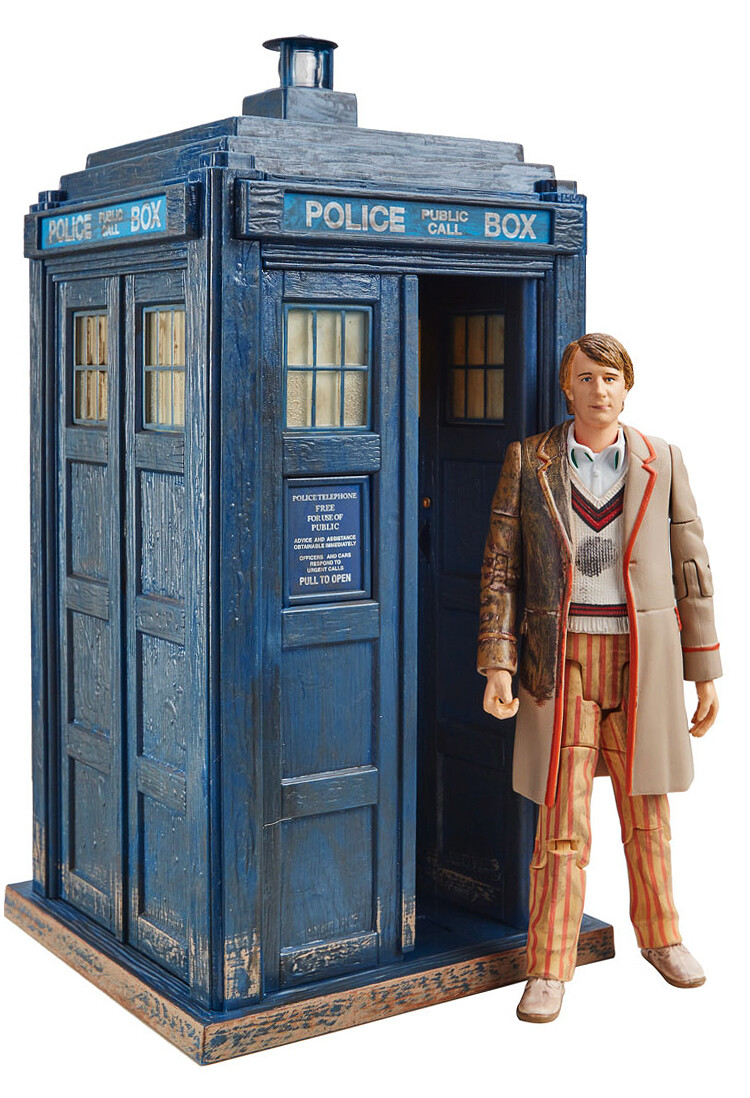 """Doctor Who: 5th Doctor 5.5"""" Figure & TARDIS Collector set from 'The Caves of Androzani'"""