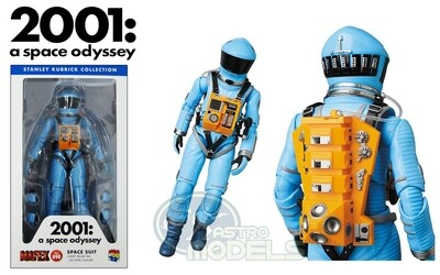 Medicom '2001: A Space Odyssey' Space Suit Action Figure - Light Blue Version - Approximately 7 Inches Tall