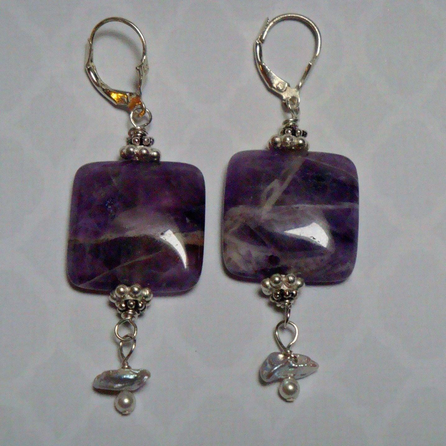 Water Lily Sterling Earrings