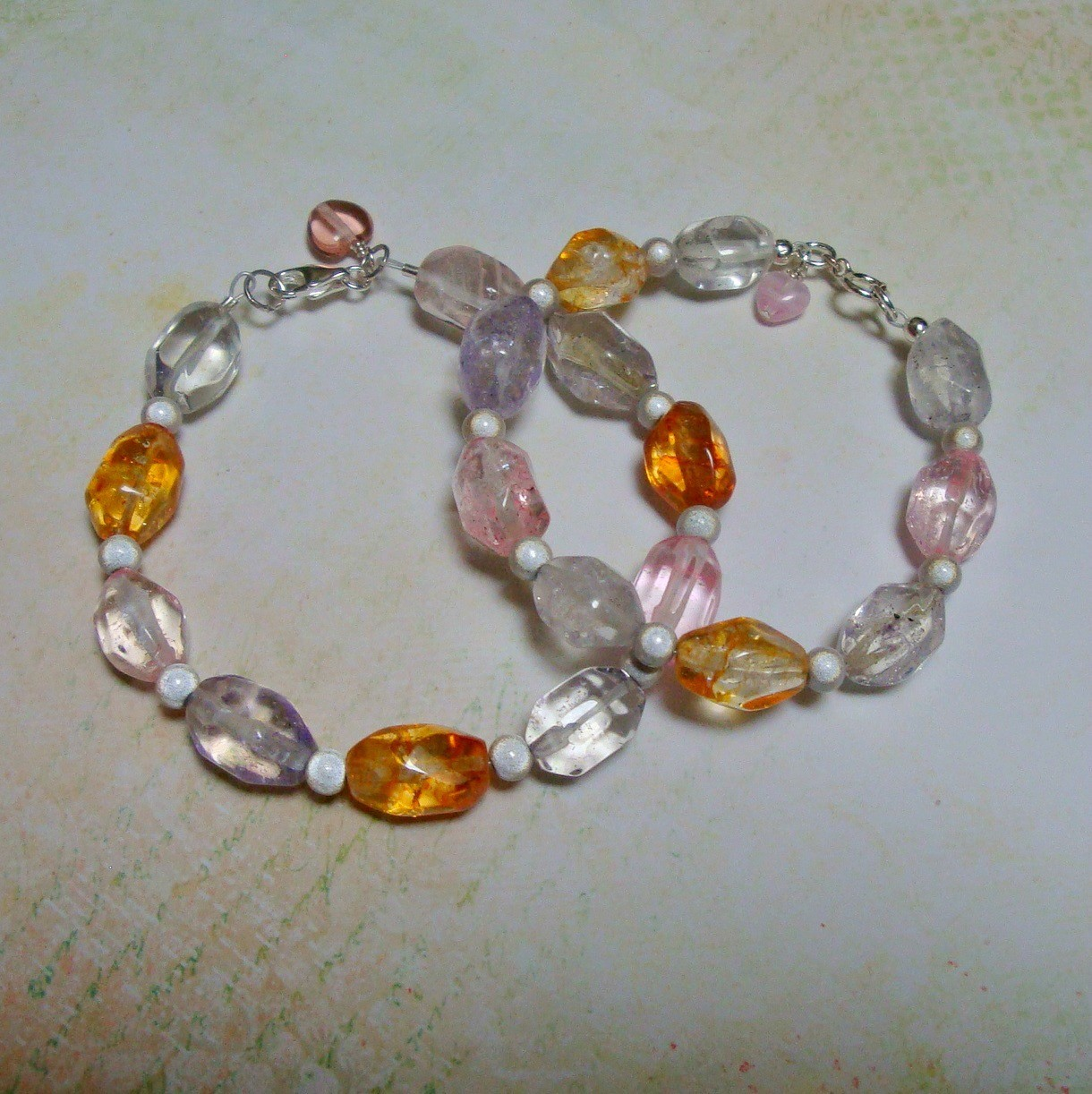 Jelly Bean Sterling Bracelet