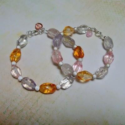 Jelly Bean Sterling Bracelet