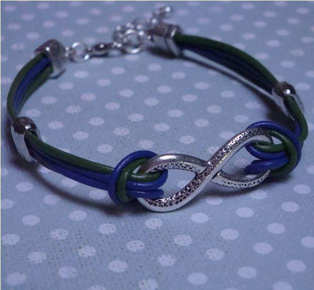 Seahawks Infinity Bracelet