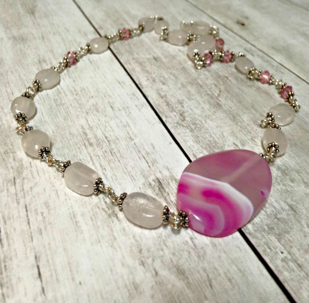 Rose Water Sterling Silver Necklace