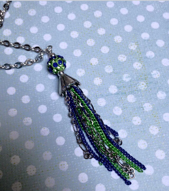 Seahawks Tassel Necklace