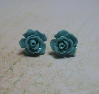 Rose Petals Sterling Earrings