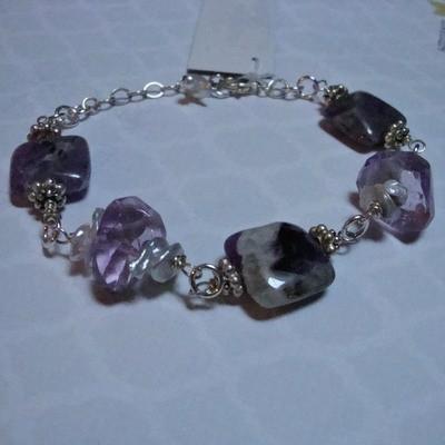 Water Lily Sterling Bracelet