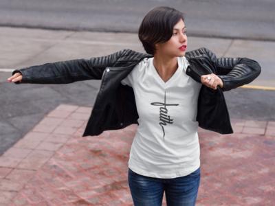 Faith Women V-Neck T-shirt