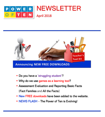 Power of Ten Newsletter - April 2018